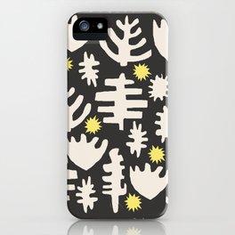 Rainbow Woodland Black/White iPhone Case