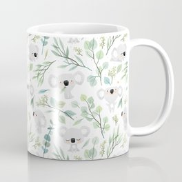 Koala and Eucalyptus Pattern Coffee Mug