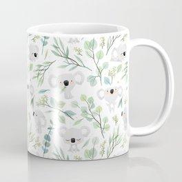 Koala and Eucalyptus Pattern Kaffeebecher
