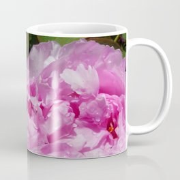 Pink Peony with Rain Drops Coffee Mug
