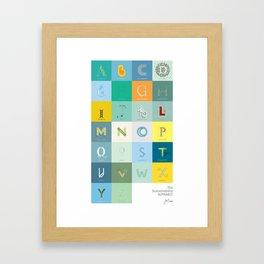 Sustainability Alphabet Framed Art Print