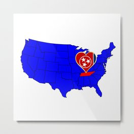State of Tennessee Metal Print