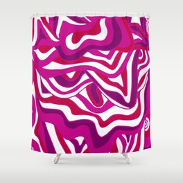 Orbs, psychedelic festival purple Shower Curtain