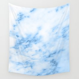 Marbled Blue Wall Tapestry