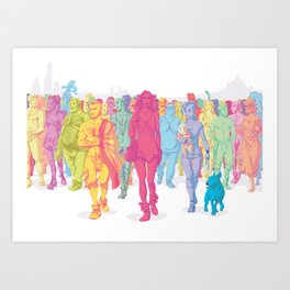 Quarto Stato Art Print
