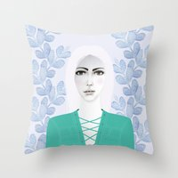 army Throw Pillows featuring Army Girl by EISENHART