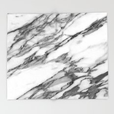 Carrara marble Throw Blanket