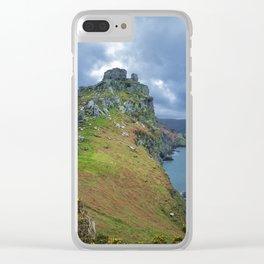 CASTLE ROCK VALLEY OF THE ROCKS EXMOOR DEVON Clear iPhone Case