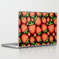 strawberry Laptop & iPad Skins featuring Strawberry by LaDa