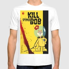 Kill Spongebob Mens Fitted Tee MEDIUM White