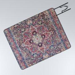 Kashan Central Persian Rug Print Picnic Blanket