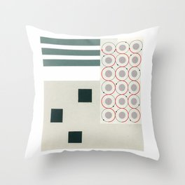 Atomic Abstraction Throw Pillow