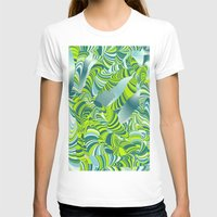lime green T-shirts featuring lime worm by Healinglove art products