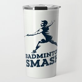 Badminton Player Travel Mug