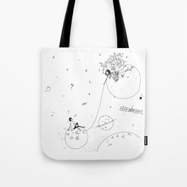 by the stars Tote Bag
