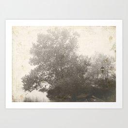 Tree Black & White Art Print