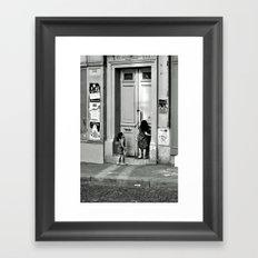 Paris, ringing the door bell Framed Art Print