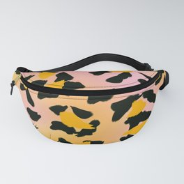 Painted Leopard Skin with Pink/Yellow Tint Background #decor #society6 #buyart Fanny Pack