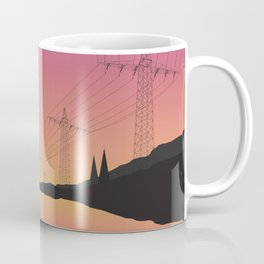Electric Wires Lake Coffee Mug