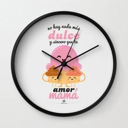 Dulce Mamá Wall Clock