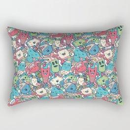 Сute doodle characters Rectangular Pillow