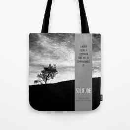 Henry David Thoreau - Solitude Tote Bag