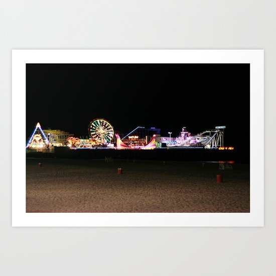 Casino Pier, Seaside Art Print