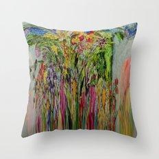 COLORFALL FLOWERFALLS Throw Pillow