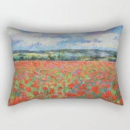 Poppy Painting Rectangular Pillow