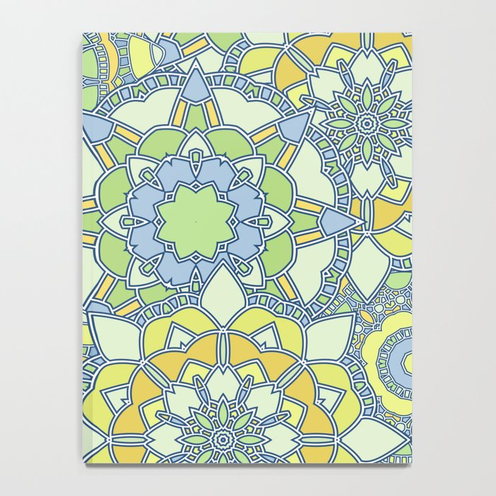 Abstract bright pattern Notebook