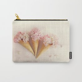 fresh flowers in ice cream cone Carry-All Pouch