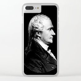 Alexander Hamilton Portrait Clear iPhone Case