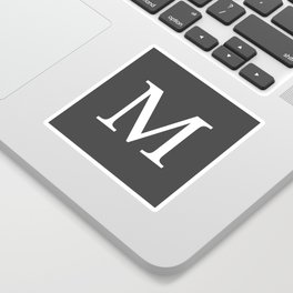 Very Dark Gray Basic Monogram M Sticker