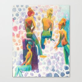 Colored Girls Canvas Print