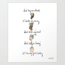 I Run This Sh*t, Baby Art Print