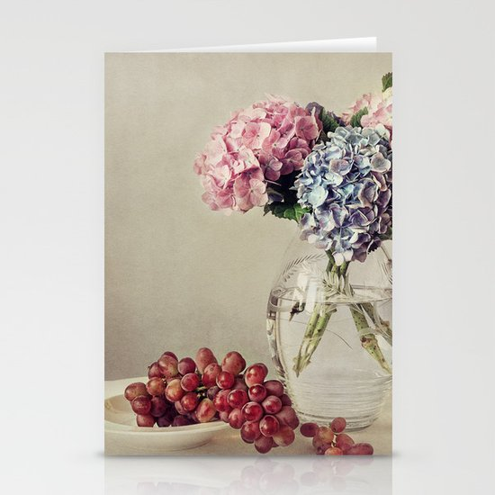 Still life with hydrangea Stationery Cards