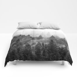 The Visionary Echo BW #society6 Comforters