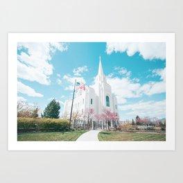 Brigham City LDS Temple Art Print