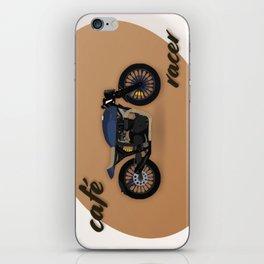 Café racer bike iPhone Skin