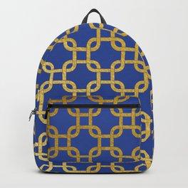 Gold interlinked squares Backpack