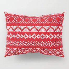 Cross Stitched Traditional Scandanavian Patterns Pillow Sham