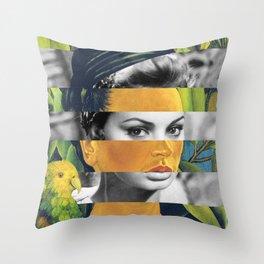 Self Portrait with Bonito & Sophia Loren Throw Pillow