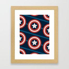 Shield, yield. Framed Art Print