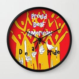 Proud Deaf American Wall Clock
