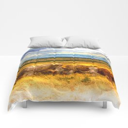 Afternoon Cow Art Comforters