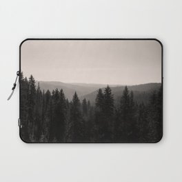 Sepia Tree Lined Valley Photography Print Laptop Sleeve