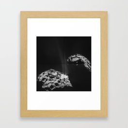 Rosetta Comet Fires Its Jets Framed Art Print