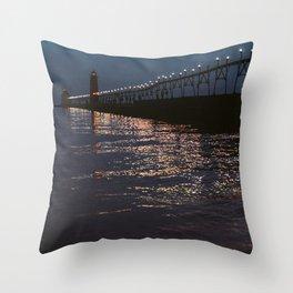 Pier Nights Throw Pillow