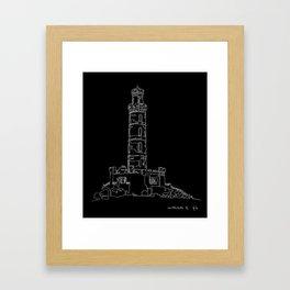 Carlton Hill, Edinburgh in one continuous line Framed Art Print