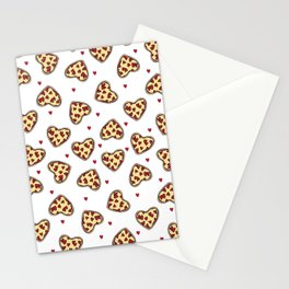 Pizza hearts cute love gifts foodie valentines day slices Stationery Cards